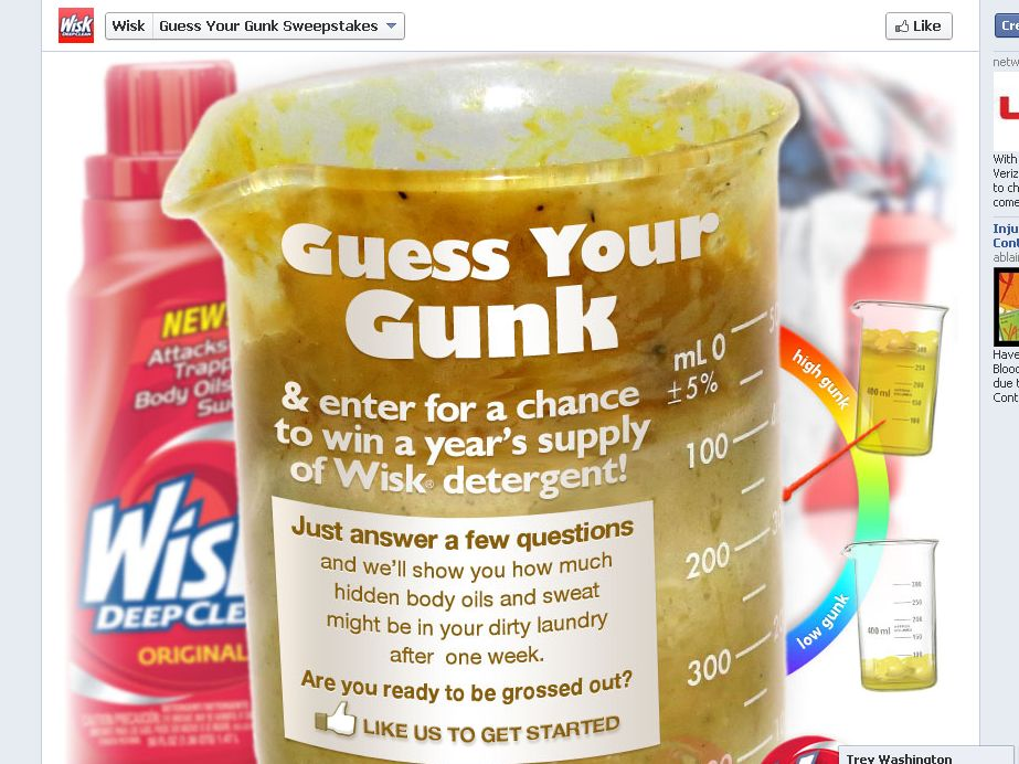 Wisk Guess Your Gunk Sweepstakes