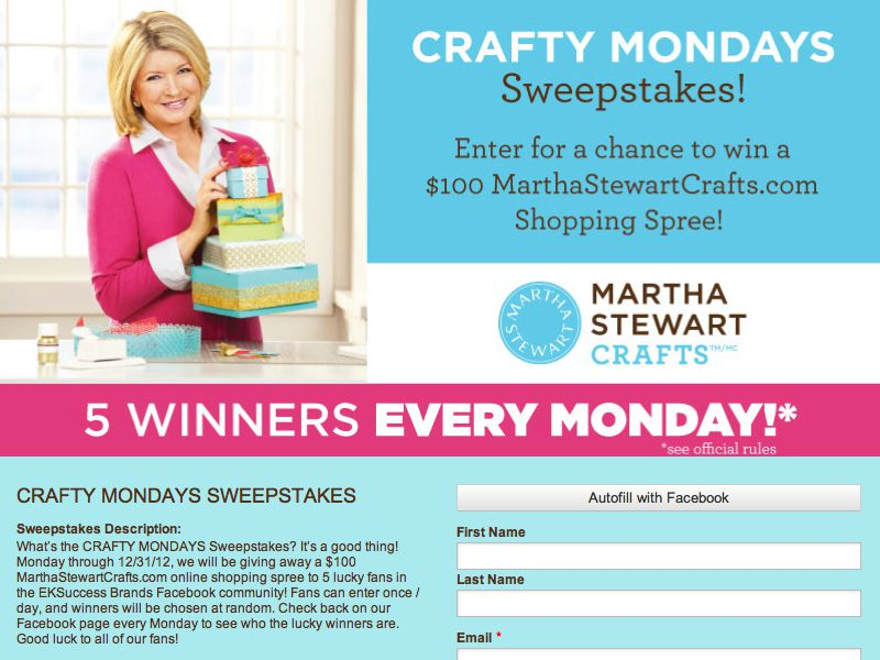 Crafty Mondays Sweepstakes