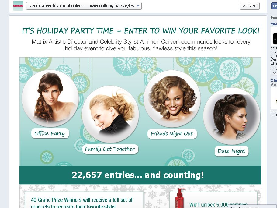 Matrix Holiday Hairstyle Sweepstakes