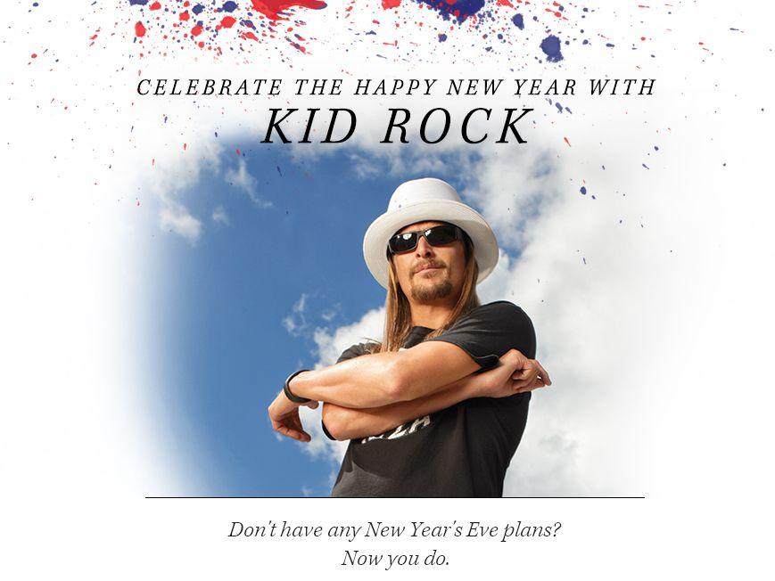 Kid Rock New Years Eve Flyaway Online Sweepstakes 2012