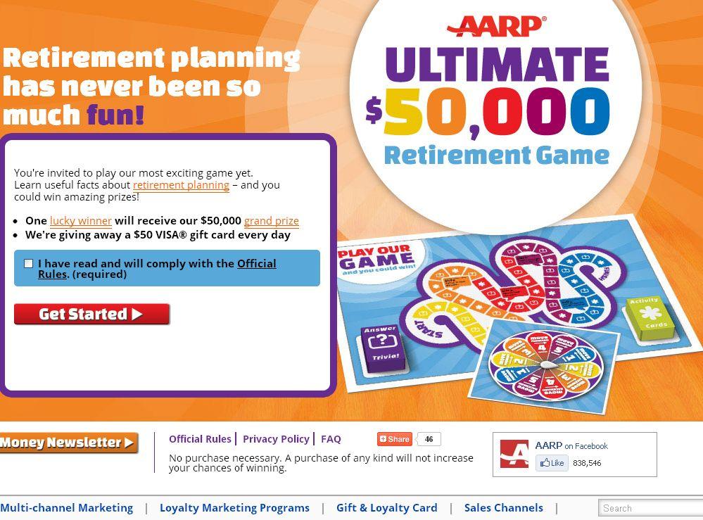 AARP Ultimate $50,000 Retirement Game