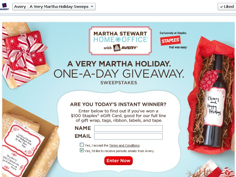 A Very Martha Holiday One-A-Day Giveaway Sweepstakes
