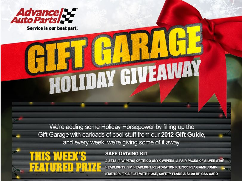 Advance Auto Parts Holiday Giveaway
