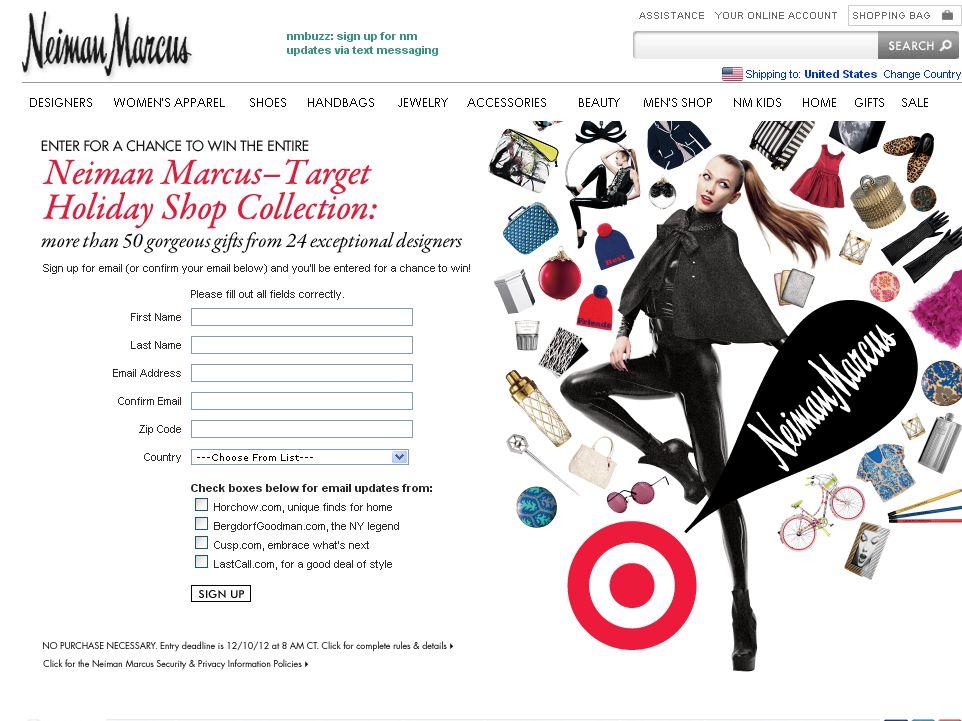 Target Sweepstakes on NeimanMarcus.com