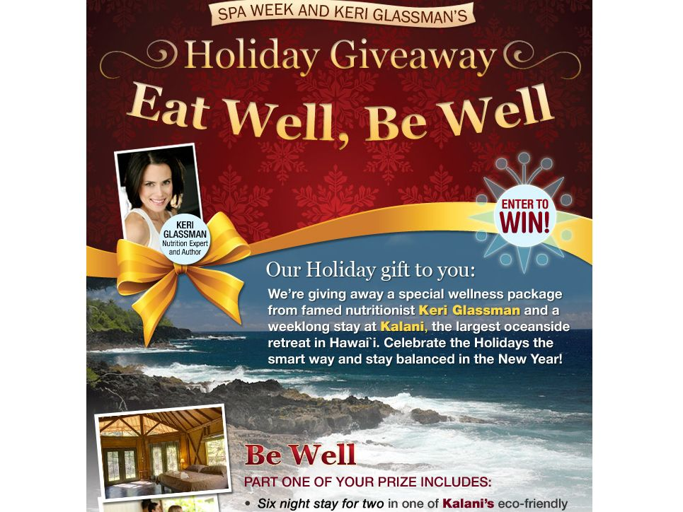Eat Well Be Well Holiday Giveaway