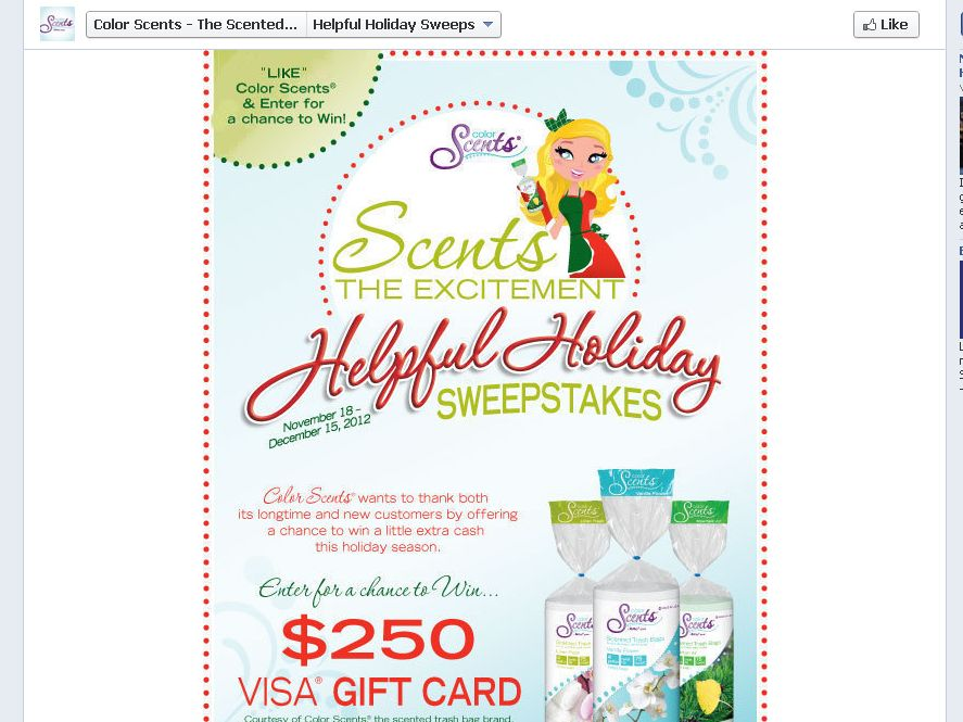 Color Scents Helpful Holiday Sweepstakes