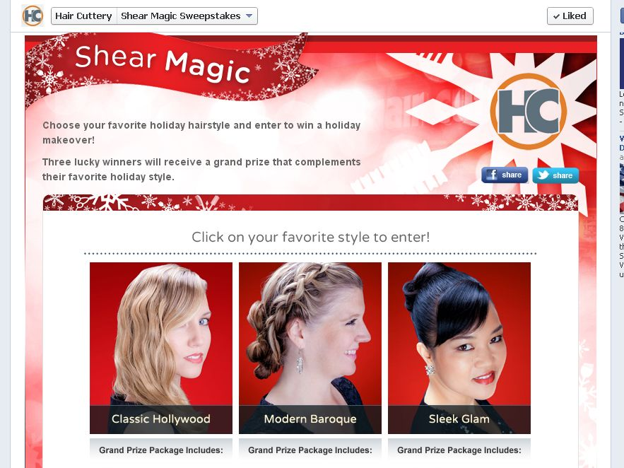 Hair Cuttery Shear Magic Sweepstakes