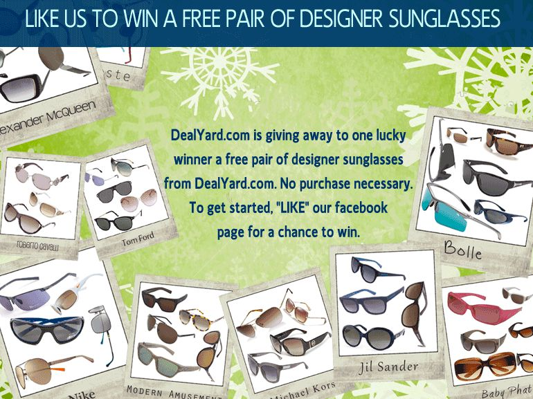 DealYard's Designer Sunglasses Giveaway!