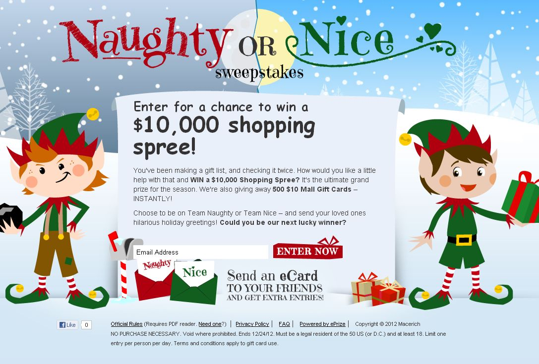Naughty or Nice Sweepstakes