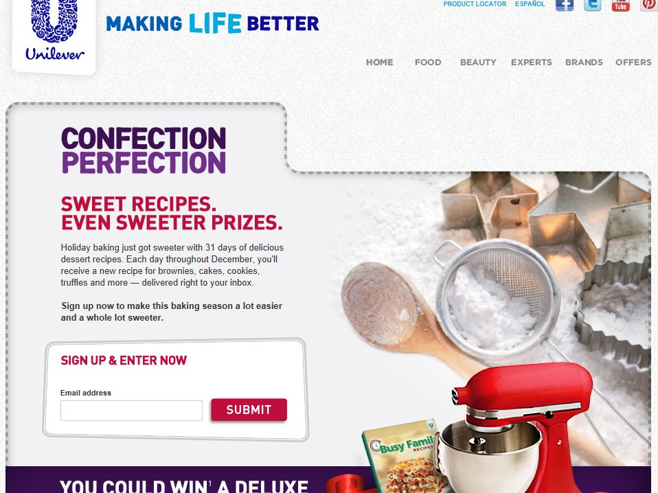 2012 31 Days of Confection Perfection Sweepstakes
