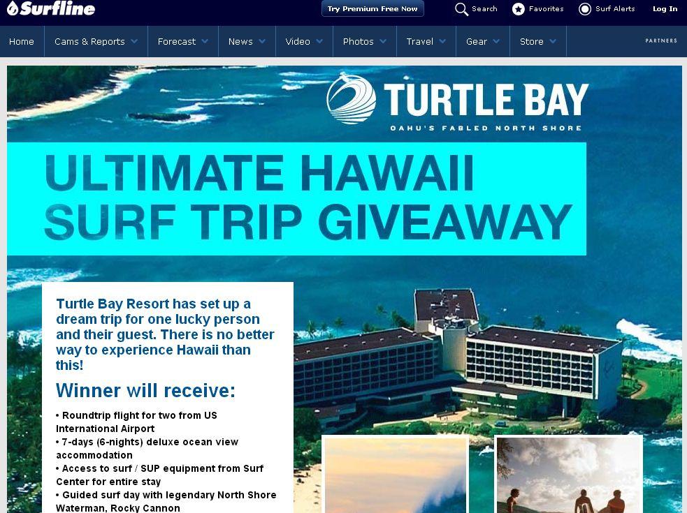 Surfline Turtle Bay Resort Hawaii Surf Trip Giveaway
