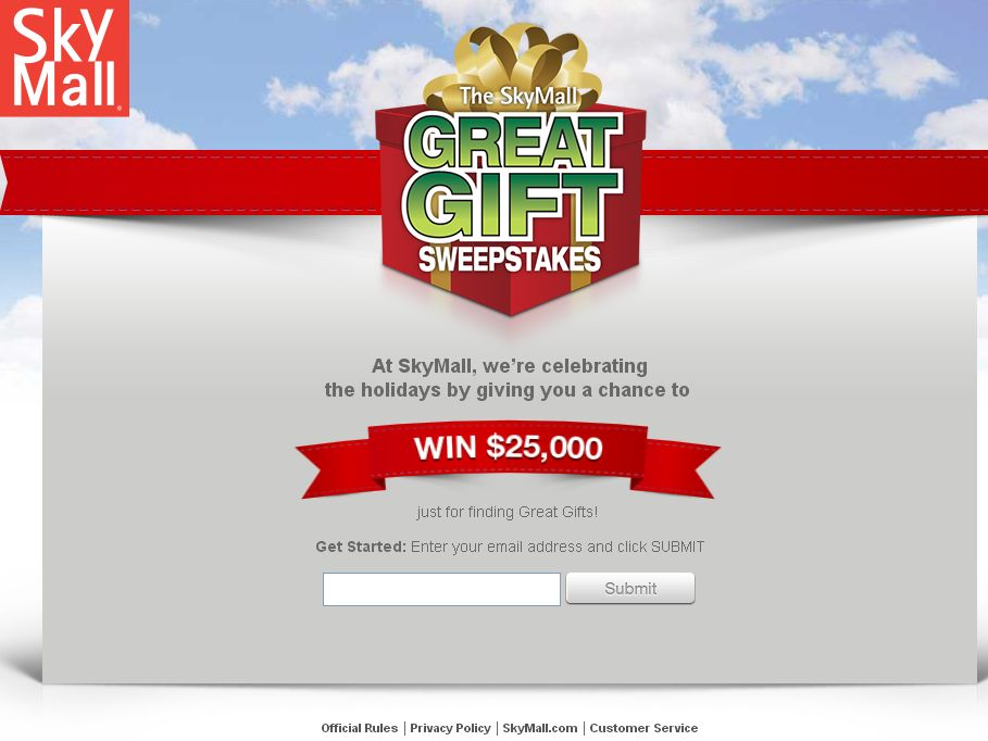 SkyMall Great Gift Sweepstakes