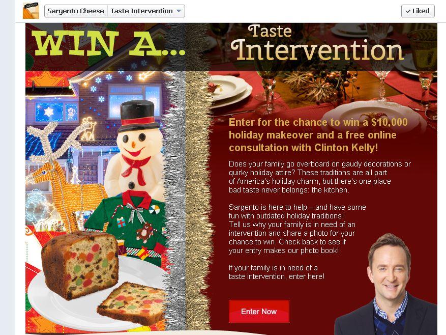 Sargento Taste Intervention Contest