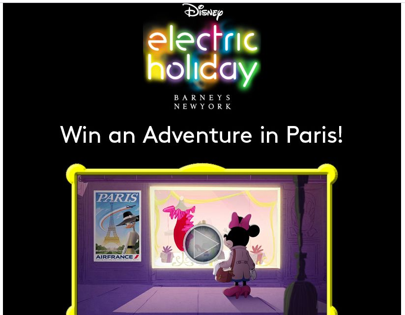 Air France and Barneys Holiday Sweepstakes