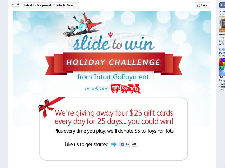 Intuit GoPayment Holiday Instant Win Game Sweepstakes