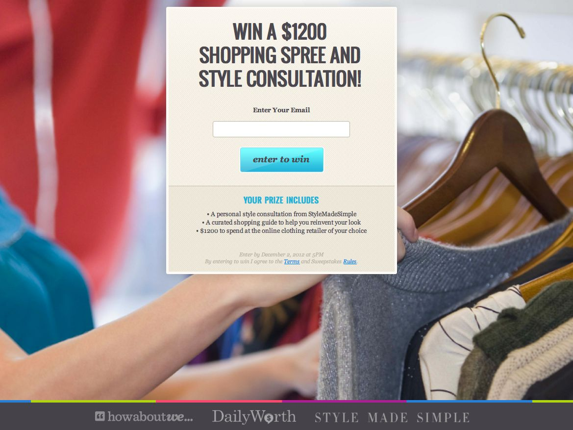 Win a $1,200 Shopping Spree & Style Consultation from HowAboutWe