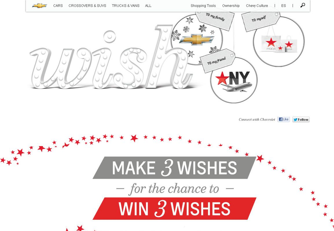 Chevrolet Holiday Wish Machine Sweepstakes