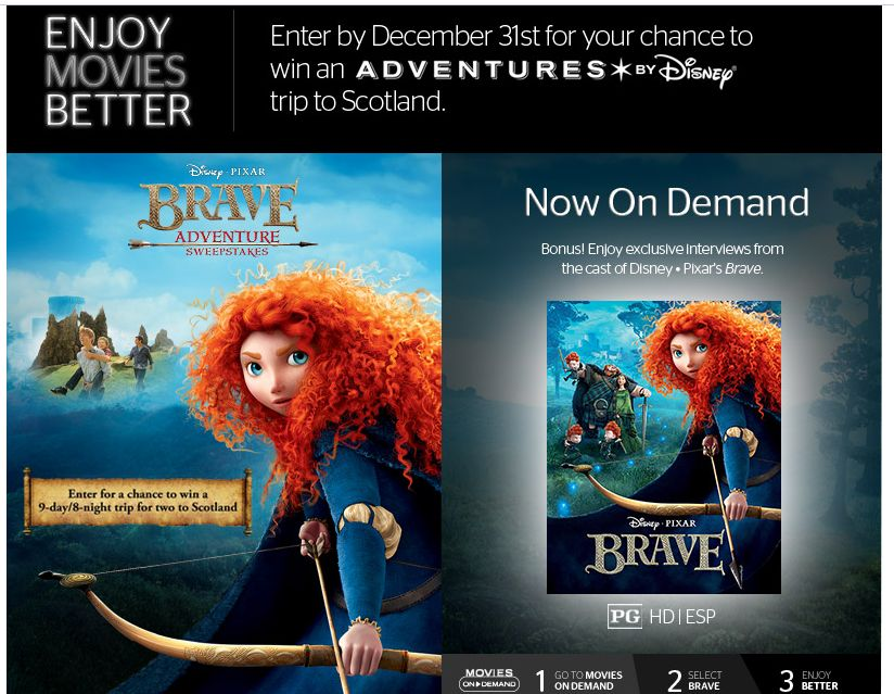 Brave Adventure Sweepstakes Presented by Time Warner Cable (limited states)
