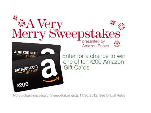 Amazon.com Books A Very Merry Sweepstakes