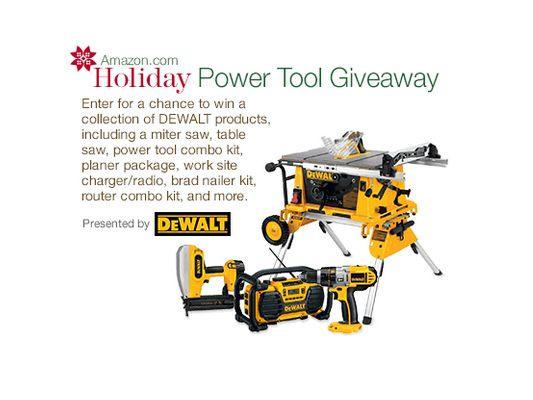 Amazon.com DEWALT Holiday Power Tool Giveaway