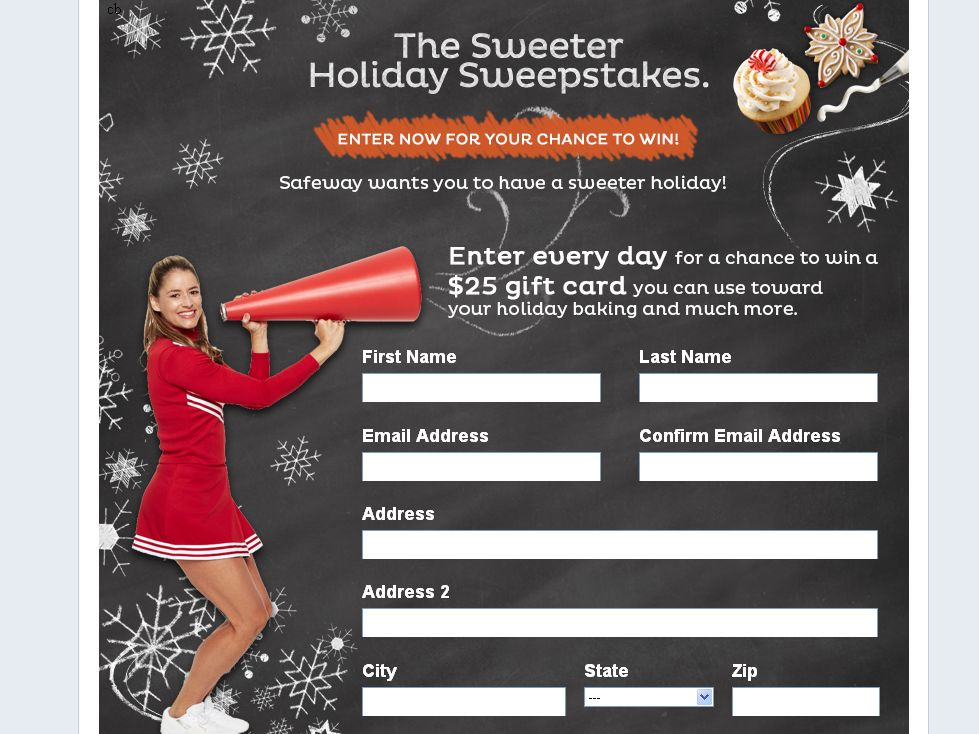 Safeway Inc. Facebook Holiday $25 Gift Card Sweepstakes