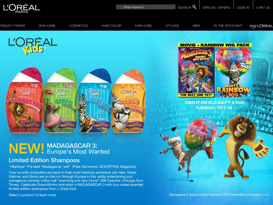 L'Oreal Kids Madagascar 3 Sweepstakes
