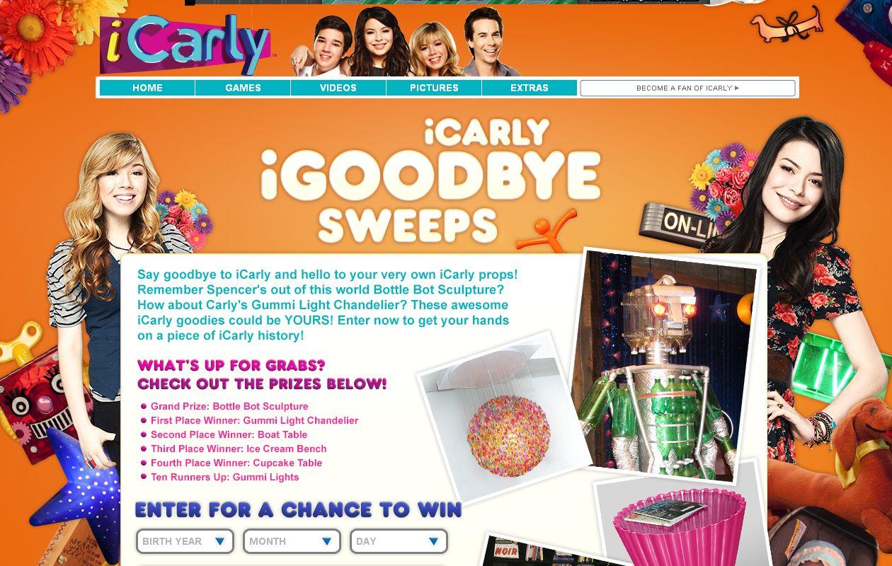 iCarly's iGoodbye Sweepstakes