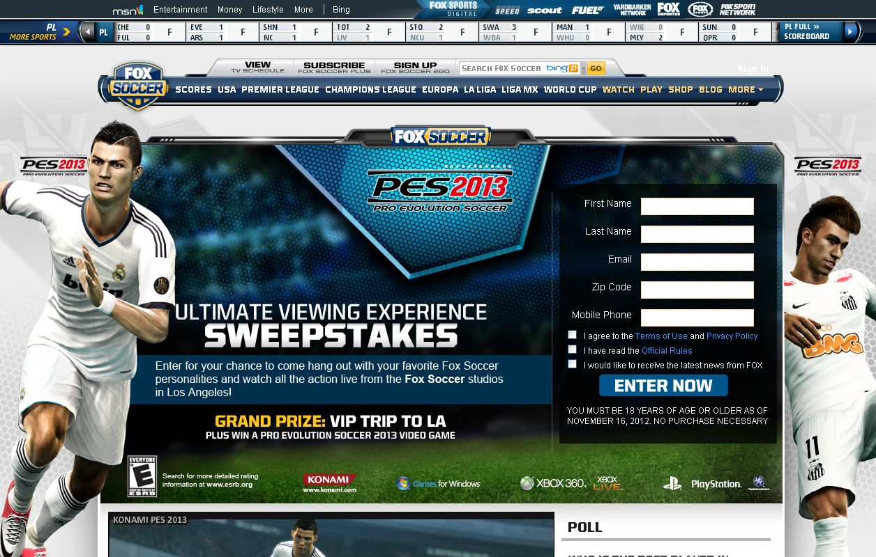 MSN Fox Ultimate Viewing Experience Sweepstakes