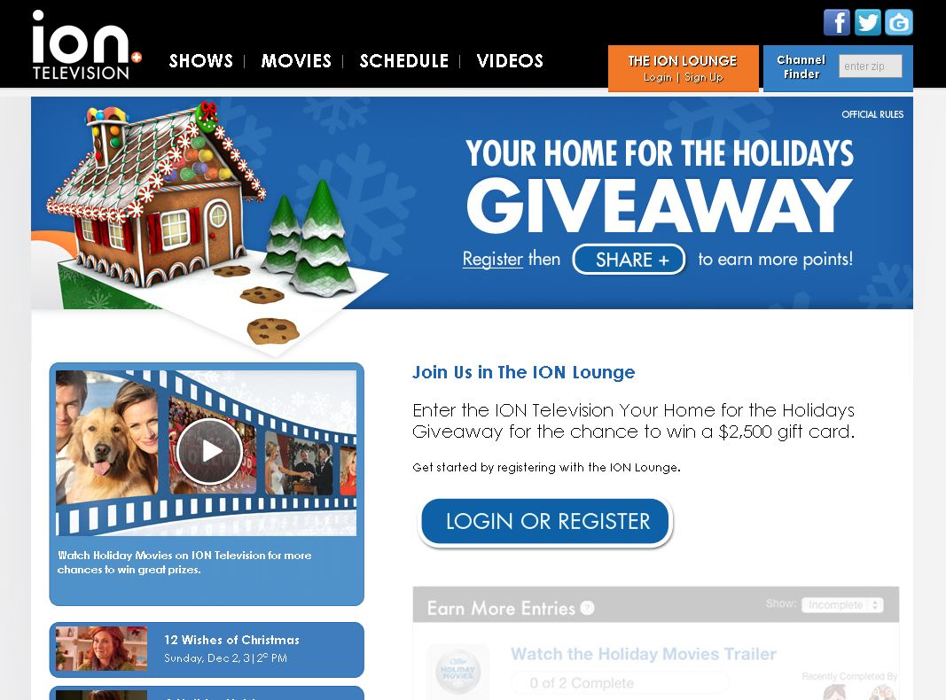 ION Television Your Home for the Holidays Giveaway
