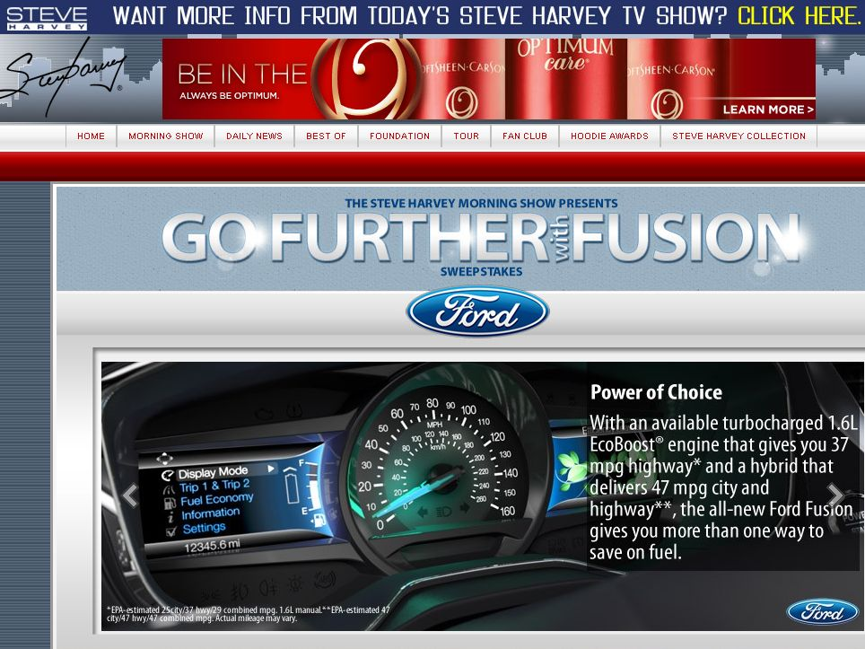 Steve Harvey Morning Show Go Further with Fusion Sweepstakes