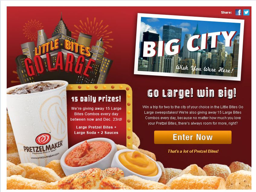 Little Bites Go Large Sweepstakes