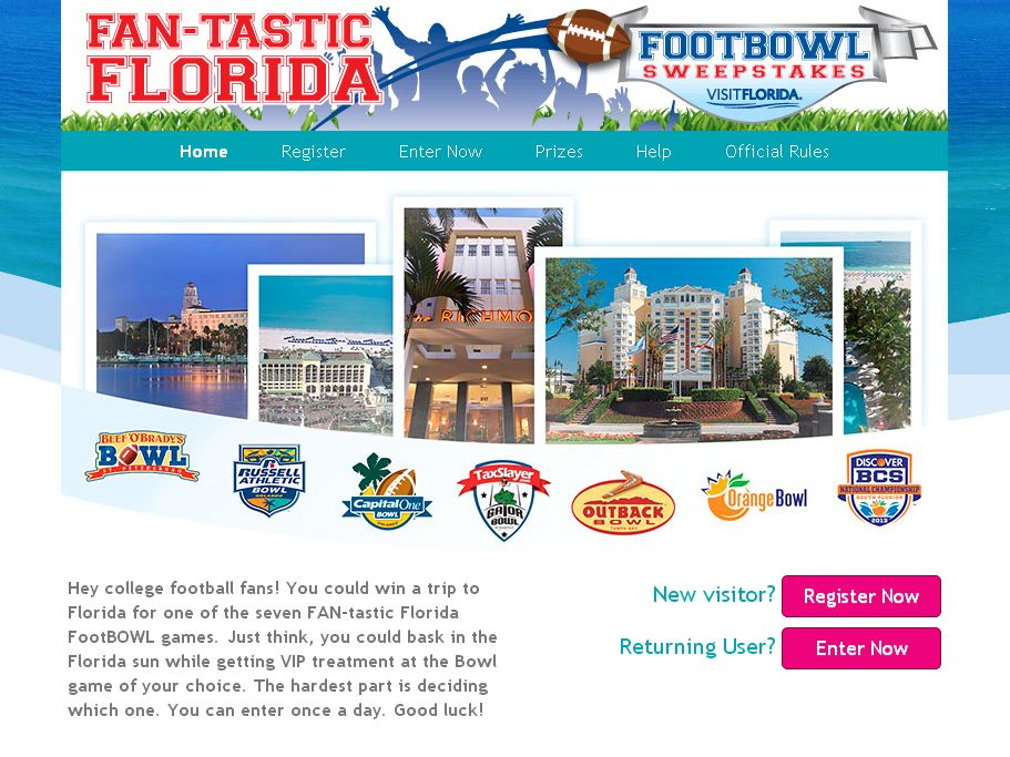 FAN-tastic Florida FootBowl Sweepstakes