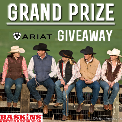 GRAND PRIZE ARIAT FASHION GIVEAWAY