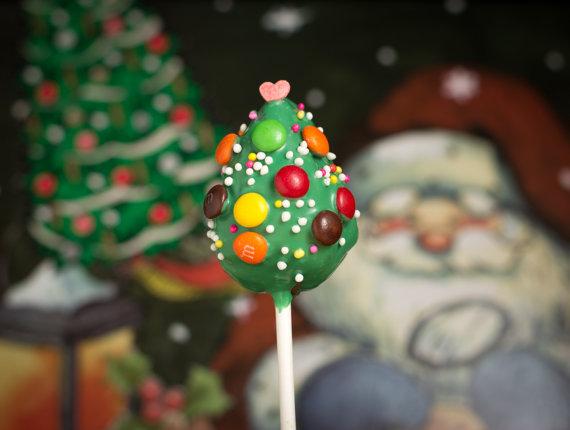 Kreations by Keara Christmas Tree Cake Pops