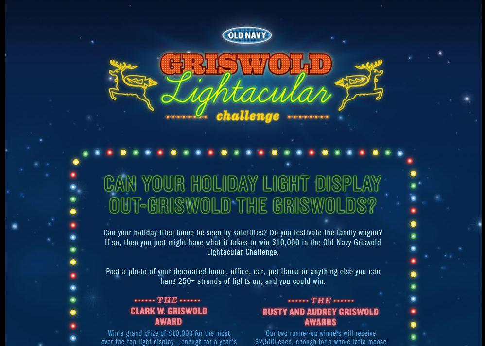 Old Navy Griswold Lightacular Challenge