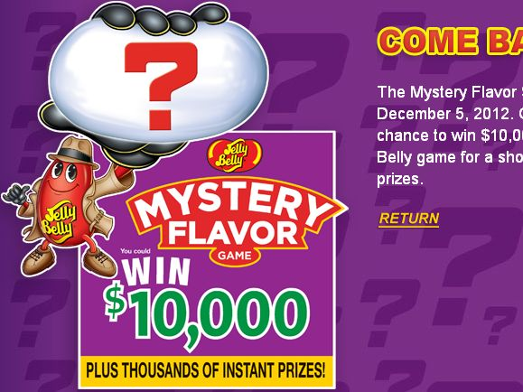 Jelly Belly Mystery Bean Sweepstakes 2013