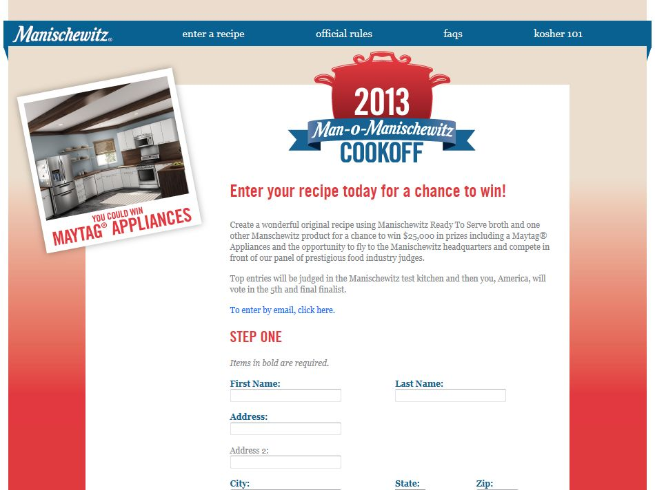 Sixth Annual Man-O-Manischewitz Cook-off Contest