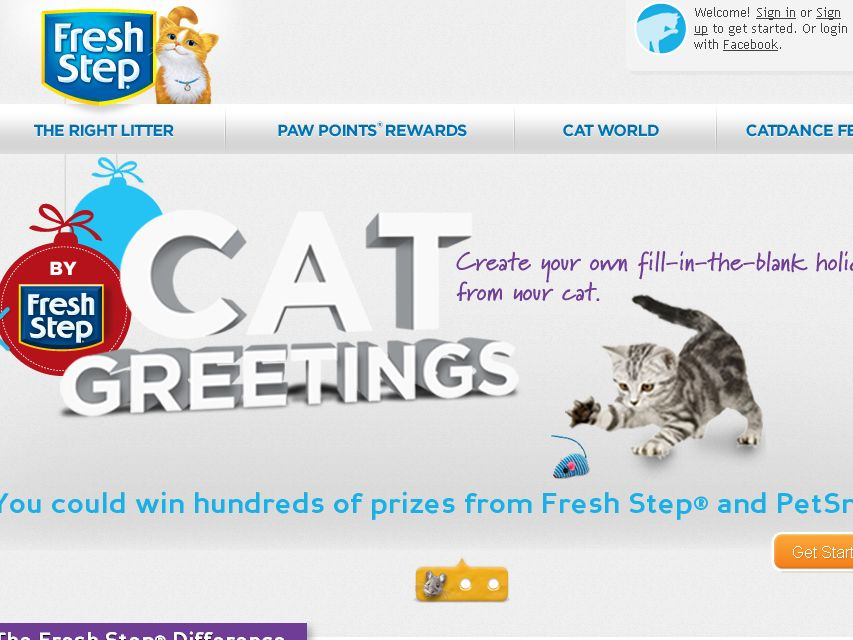 Fresh Step Cat Greetings Instant Win Game & Sweepstakes