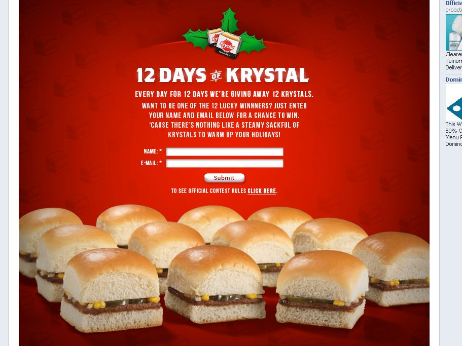 12 Days of Krystals Sweepstakes