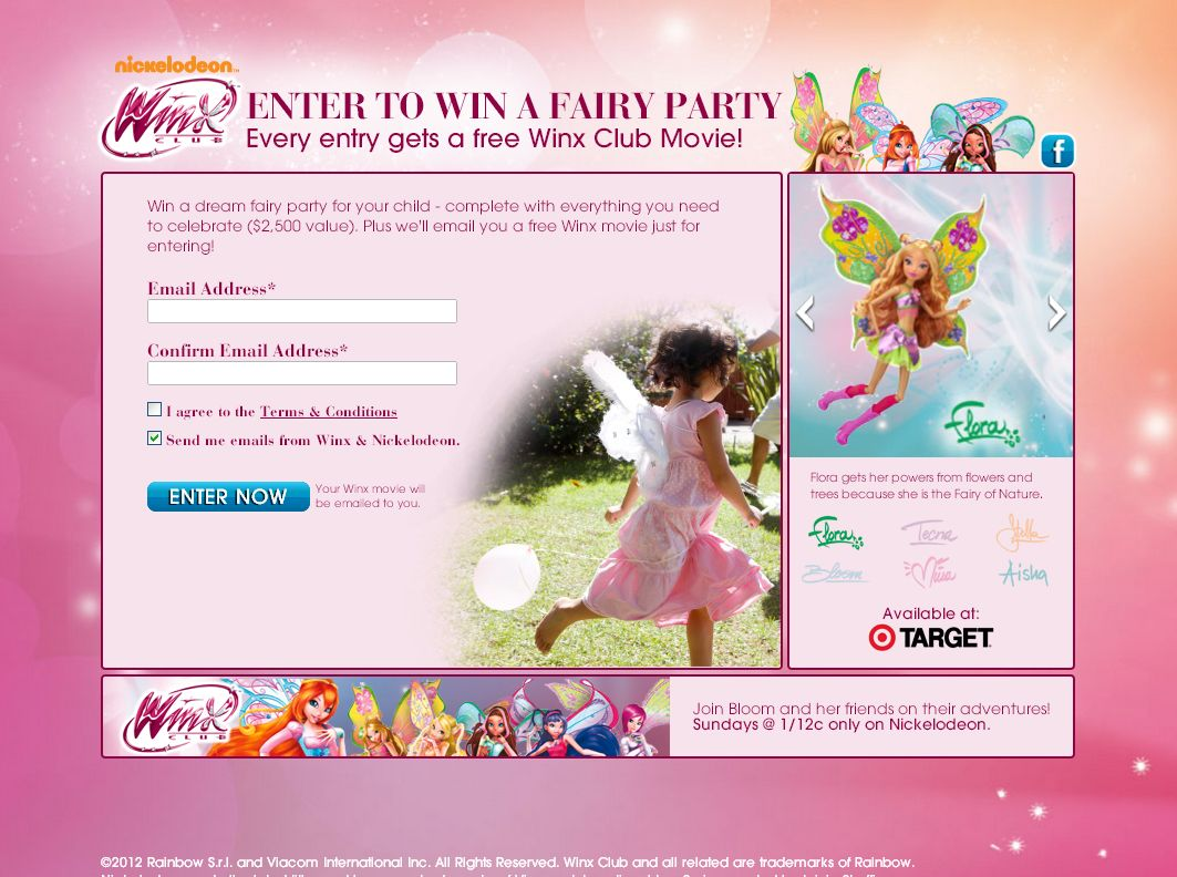 Winx Fairy Party Sweepstakes