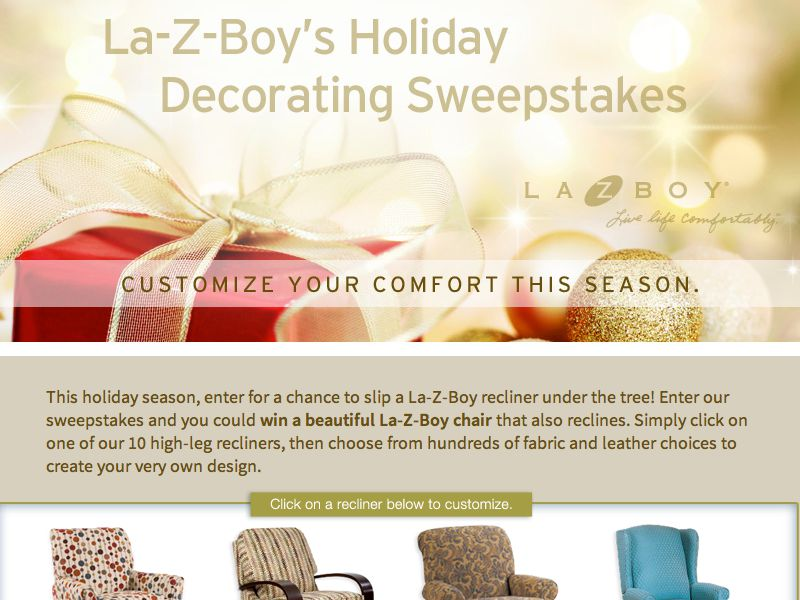 La-Z-Boy's Holiday Decorating Sweepstakes