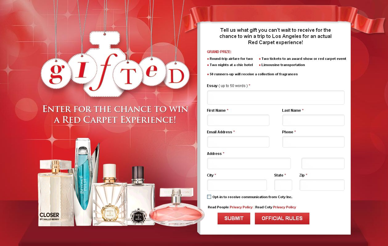 Coty Gifted Sweepstakes