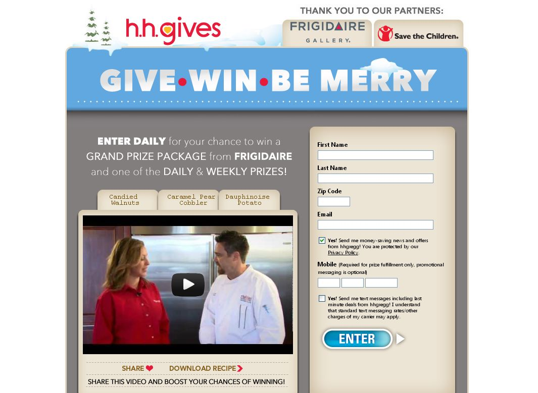 h.h.gregg Give, Win, Be Merry Sweepstakes
