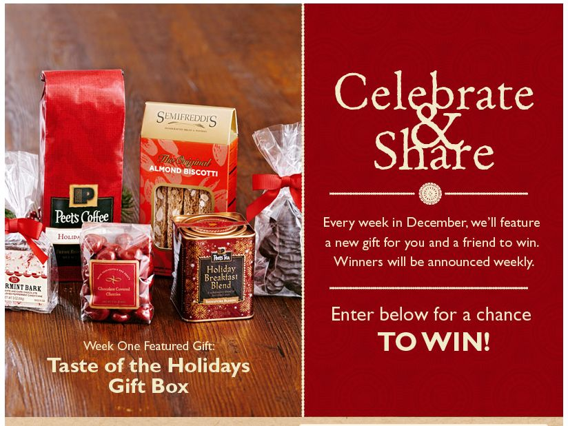 Celebrate and Share Peet's Giveaway