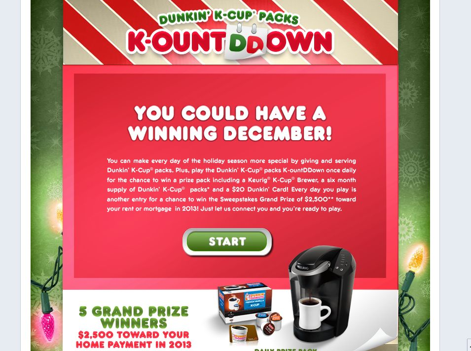 Dunkin' K-Cup Packs K-ount Down Promotion