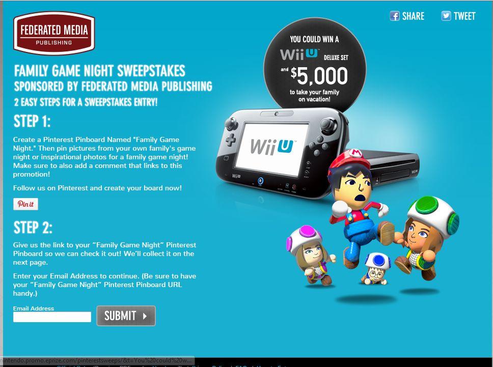 Nintendo Family Game Night Sweepstakes
