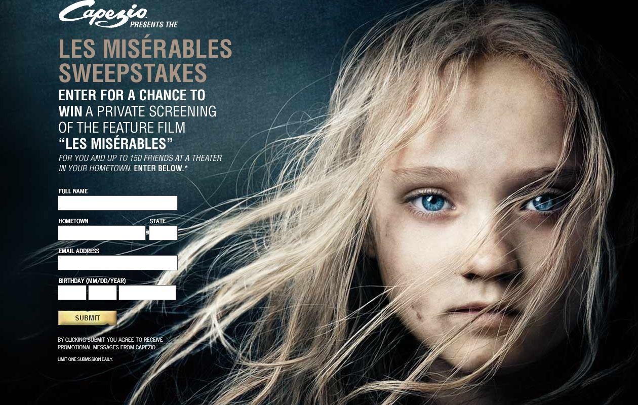 Capezio Presents the Universal Les Misérables Sweepstakes