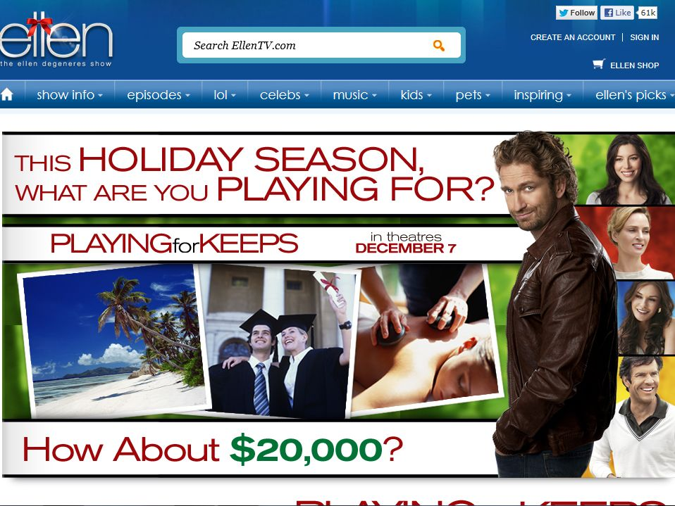 Playing for Keeps Sweepstakes