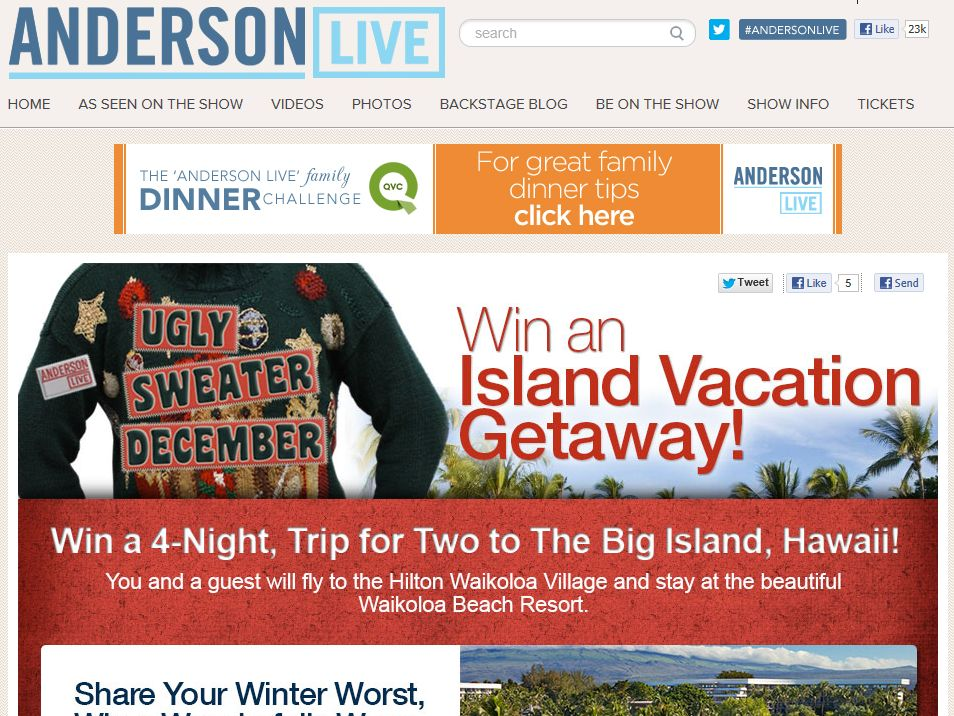 Anderson Live Ugly Sweater December Contest