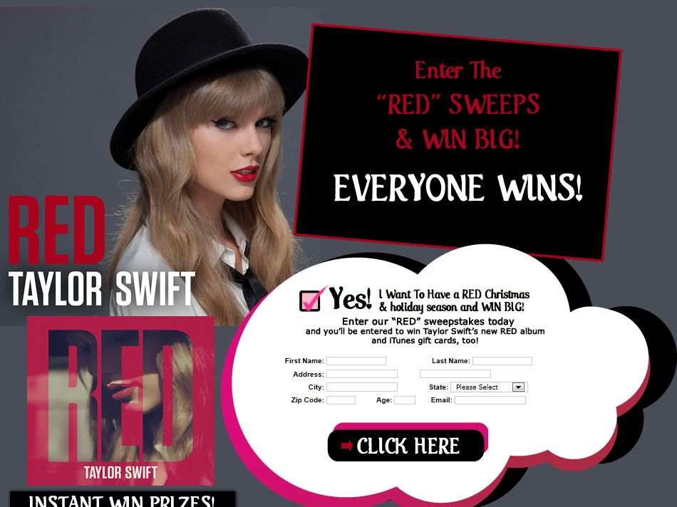 TeenFreeway RED Sweepstakes